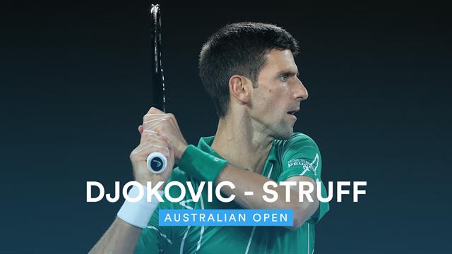 Highlights: Djokovic struggles in third set but beats Struff