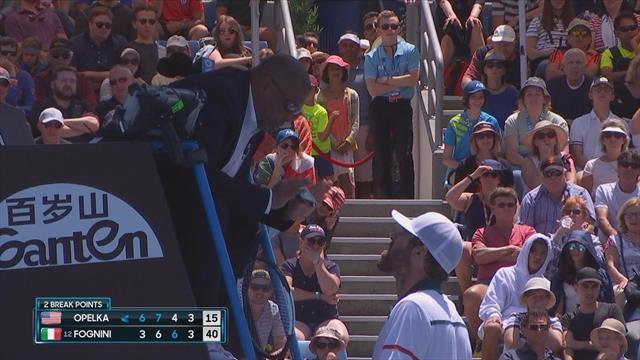 Australian Open| Opelka is het niet eens met de umpire