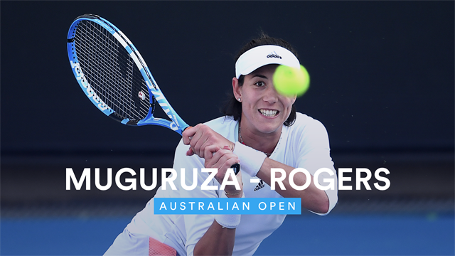 Open de Australia 2020, Muguruza-Rogers: Resumen en vídeo del partido