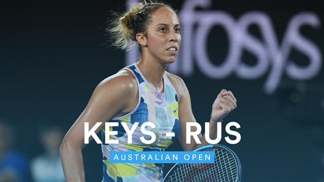 Australian Open| Hoogtepunten Keys - Rus