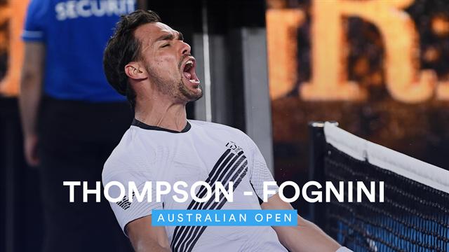 Australian Open  Highlights Thompson - Fognini
