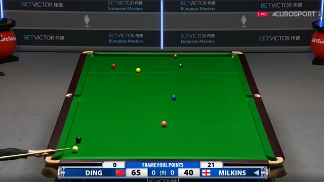 6 attempts, 21 points conceded, favour returned - Milkins' patience repaid against Ding