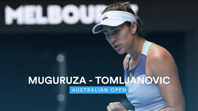 Open de Australia 2020: Muguruza vs Tomljanovic, vídeo resumen del partido