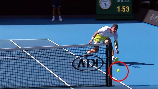Shot of the tournament so far? Bolt's around-the-net stunner against Thiem
