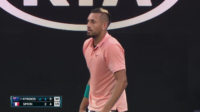 Australian Open  Kyrgios immiteert Nadal