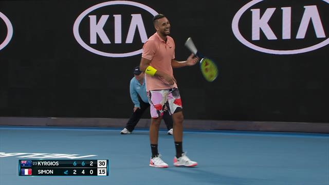 Simon joins in Nadal mockery to Kyrgios' delight