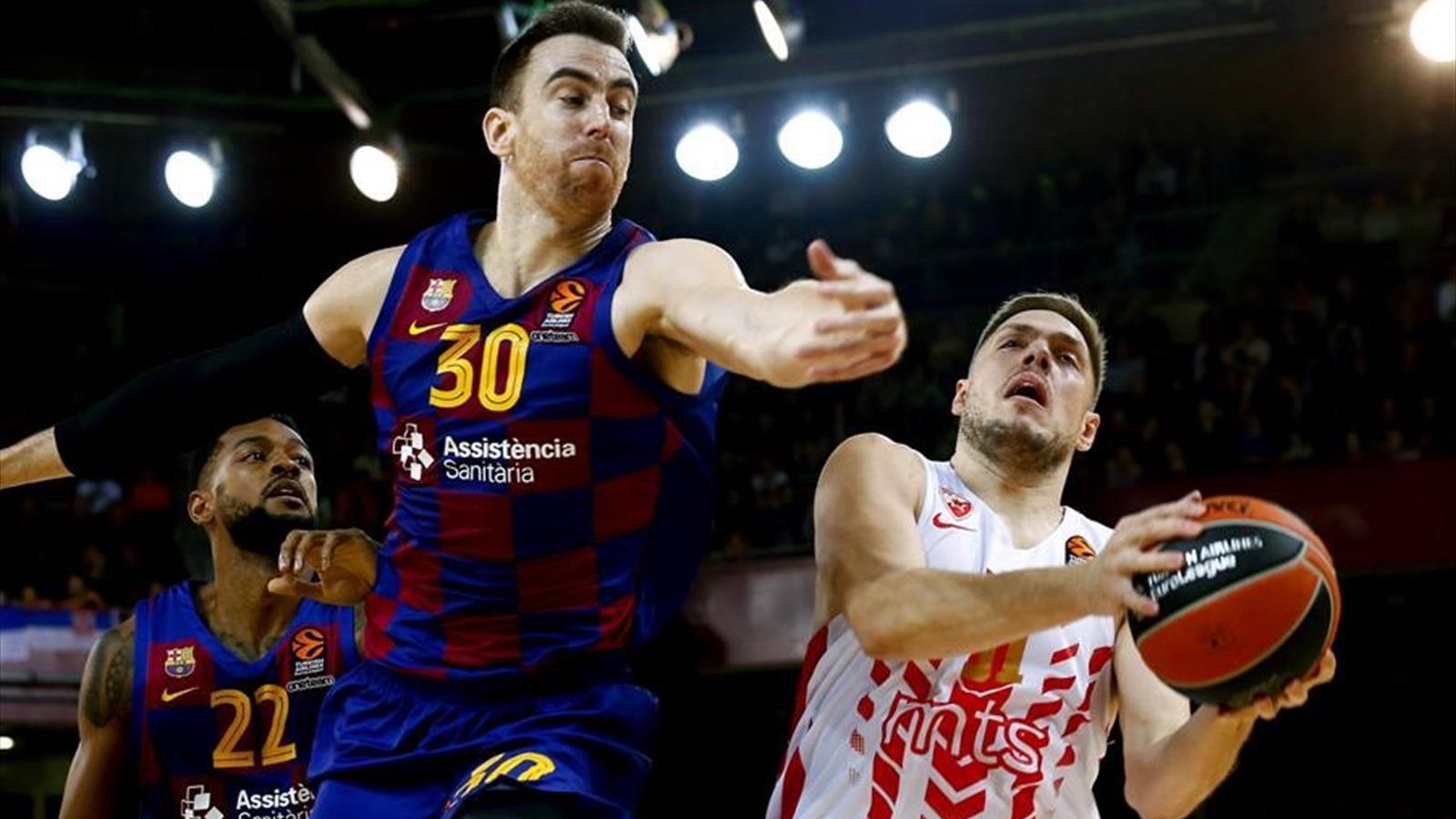 Victoria del FC Barcelona que iguala al Real Madrid en la tabla. Baskonia se acerca al Playoff en el que se mantiene Valencia Basket pese a la derrota