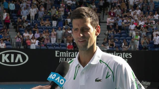 'I'm not sure I've ever done that before' - Djokovic on his stunning service display