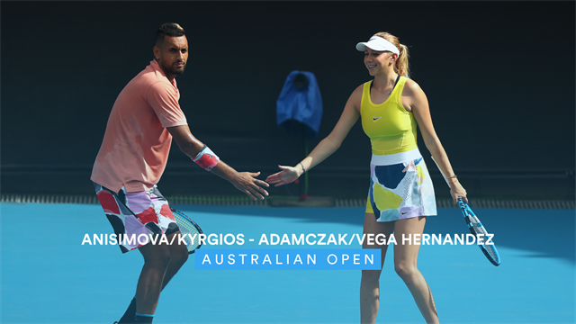 Highlights: Kyrgios and Anisimova make progress in mixed doubles