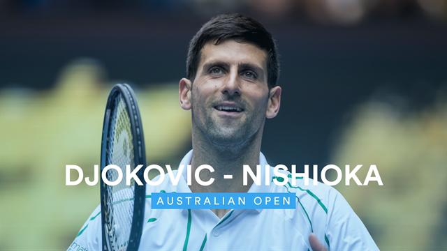 Highlights: Serving masterclass sees Djokovic blast past Nishioka