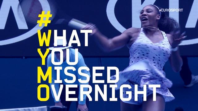 Lo que te perdiste anoche (Día 5): Serena y Wozniacki, dos mitos que dicen adiós entre lágrimas
