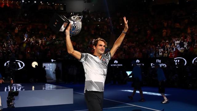 Камбэк Федерера против Надаля в финале AO-2017. Роджер уступал с брейком в пятом сете, но победил