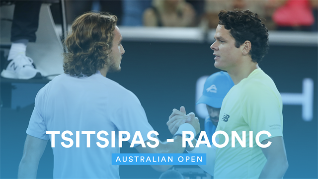 Australian Open Highlights - Tsitsipas crashes out to Raonic