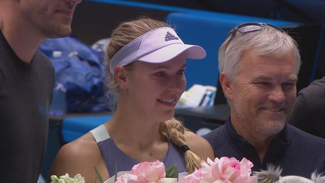 Standing ovation leaves Wozniacki in tears on final appearance of her career