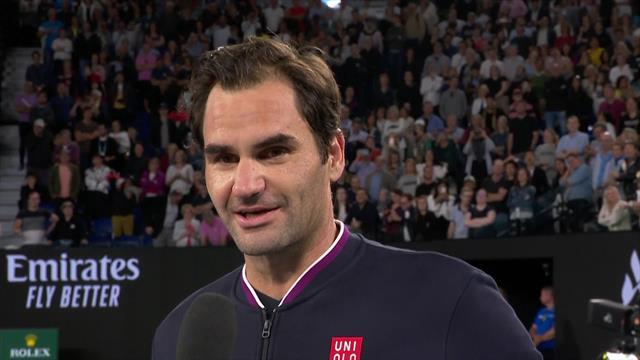 "Australian Open | Federer: ""Ik had wat geluk nodig."""