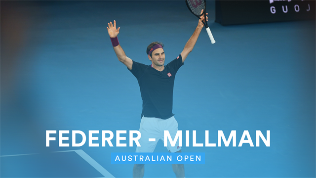 Highlights: Federer i store problemer mod australsk hjemmebanefavorit