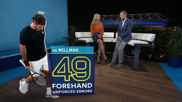 Wilander: Federer's unforced errors stem from his serve