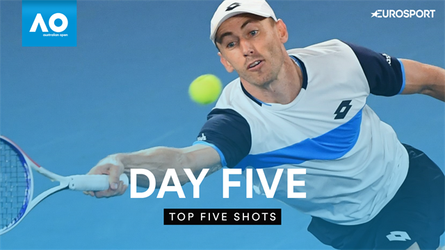Top 5 shots of Day Five at the Australian Open