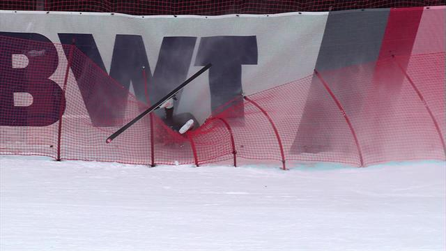 Heart in mouth moment as Ryan Cochran-Siegle suffers big crash at Kitzbuhel