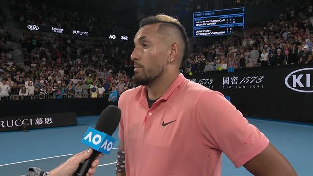 Australian OpenHet on court interview met Nick Kyrgios