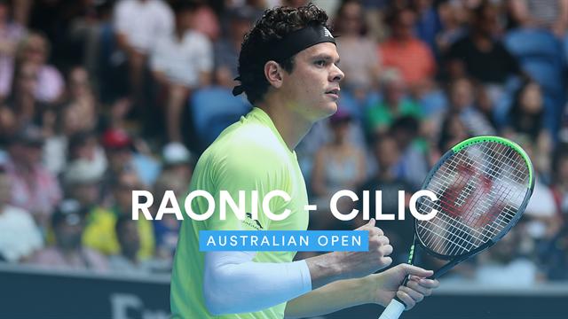 Australian Open: Raonic-Cilic 6-4 6-3 7-5, gli highlights