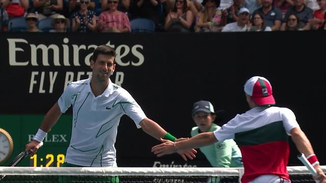 'You've got to love that' - Djokovic shows respect to Schwartzman after incredible shot
