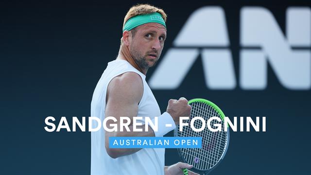 Open de Australia 2020, Sandgren vs Fognini, vídeo resumen del partido