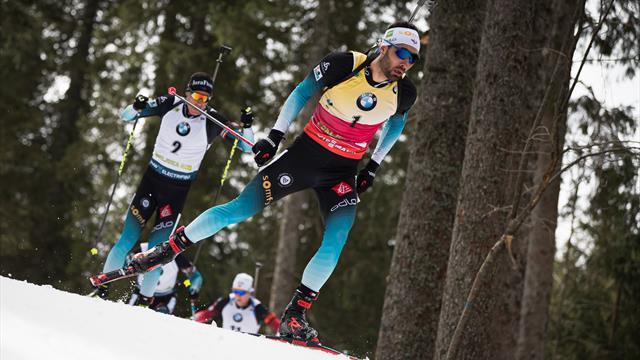 Fillon-Maillet et Fourcade sur le podium derrière Loginov — Mondiaux