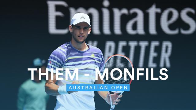 Open de Australia 2020: Thiem-Monfils, vídeo resumen del partido