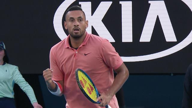 'Now we have a match on our hands' - Nick Kyrgios claims lung-busting break