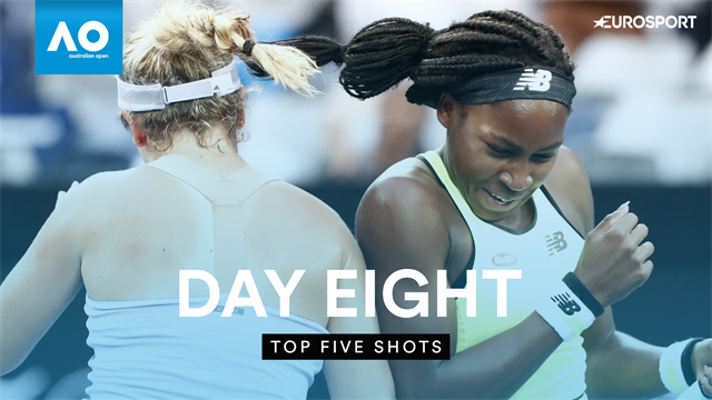 Top 5 Shots: Gauff stars in crazy doubles point