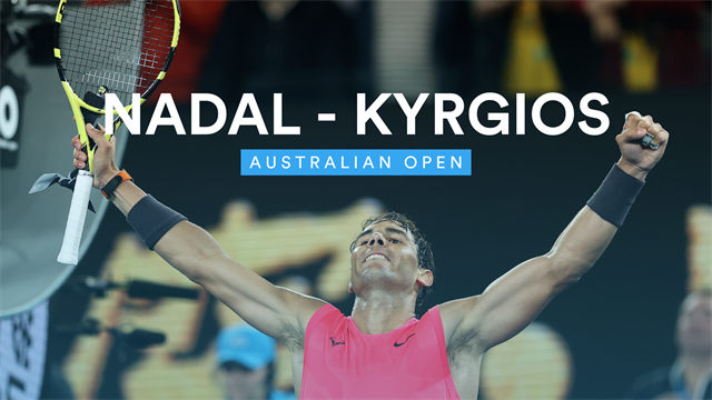 Nadal holds off challenge of Kyrgios to make quarters
