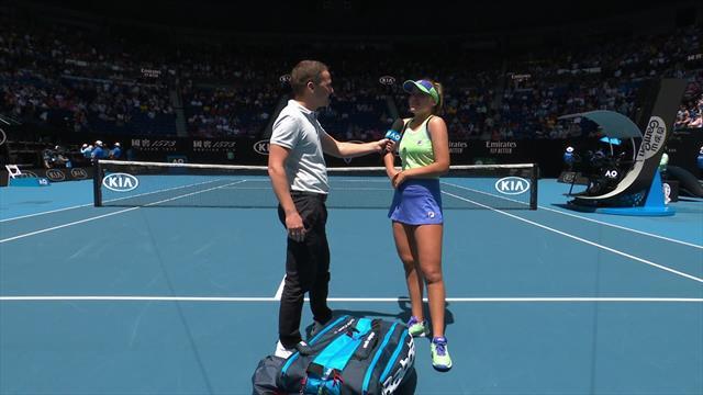 Australian Open| On court interview met Sofia Kenin