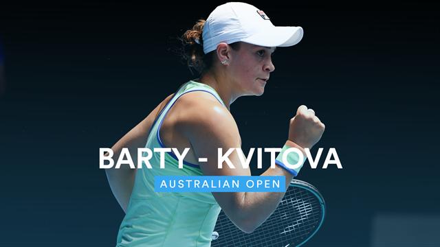 Barty bat la finaliste sortante Kvitova, première demie pour Kenin — Open d'Australie