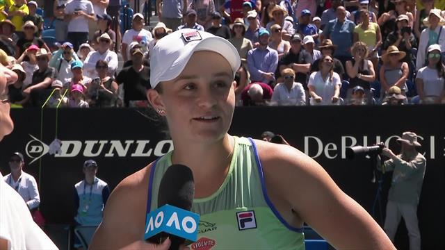 Australian Open| Het on court interview met Ashleigh Barty