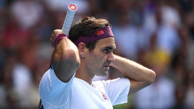 Federer and Sandgren's brilliant 28-shot rally!