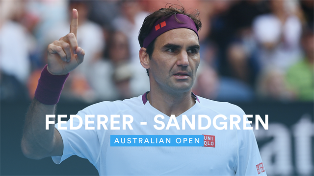 Open de Australia 2020, Sandgren vs Federer
