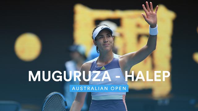Australian Open: Muguruza-Halep 7-6 7-5, gli highlights