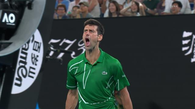 'Outstanding!' – Djokovic roars after brilliant point wins second set