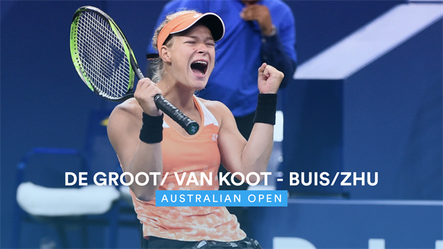 Australian Open| De Groot wel door naar dubbel finale