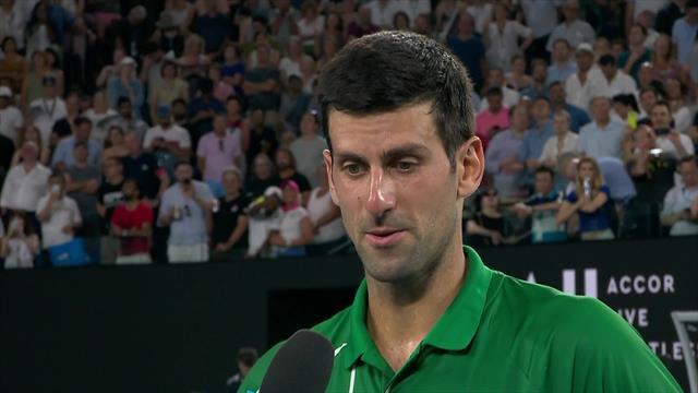 Australian Open| On court interview Djokovic