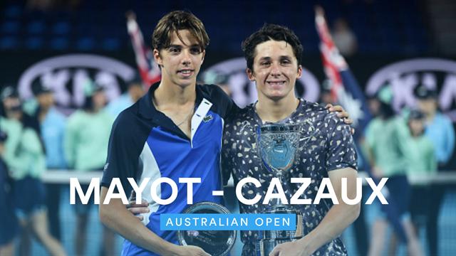 Mayot - Cazaux : Le résumé de la finale juniors 100% française