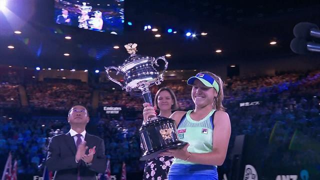Australian Open| Kenin prijsuitreiking en speech