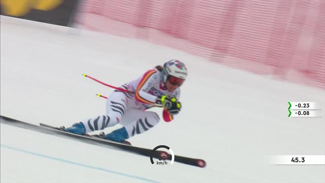 Viktoria Rebensburg's run at the Rusa Khutor women's Super-G