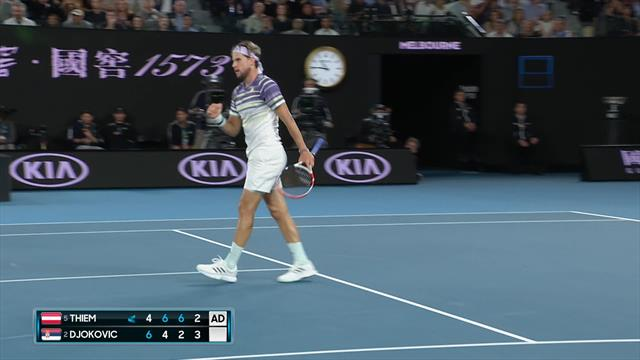 'Fantastic! Unbelievable pick-up! – Thiem digs in to hold serve