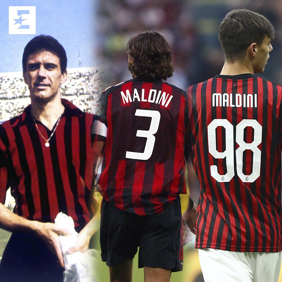 Maldini jr. esordisce in Serie A, è la 3/a generazione