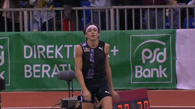 'Everything but the palms of his hands over it!' Duplantis goes for the pole vault world record