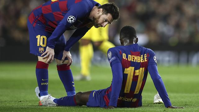 Barcelona's Dembele ruled out for six months after operation and will miss Euro 2020