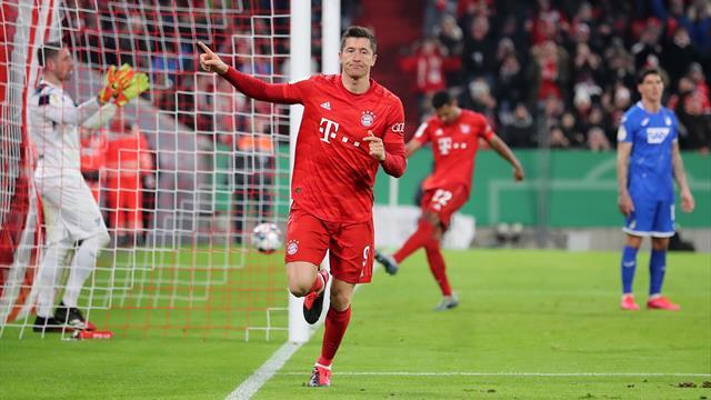 Un doublé de Lewandowski et le Bayern file en quarts de finale