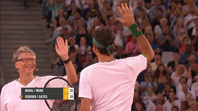 #MatchinAfrica: Federer & Bill Gates zaubern gegen Nadal und Trevor Noah
